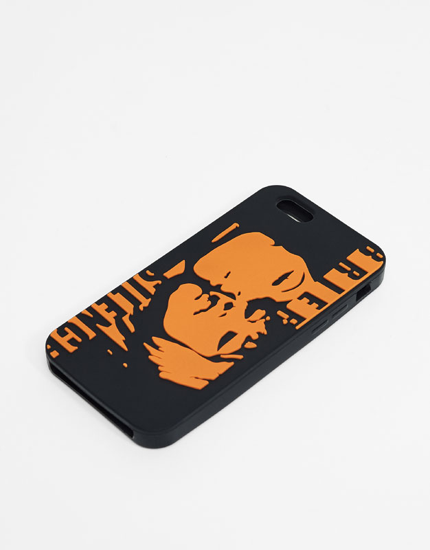 Rubber case with graphic