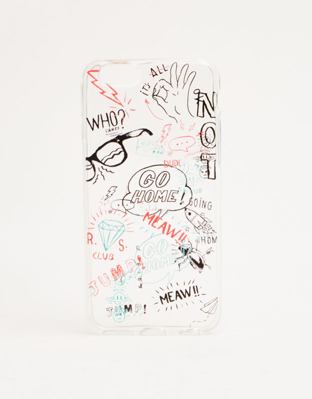 Scribble print phone case