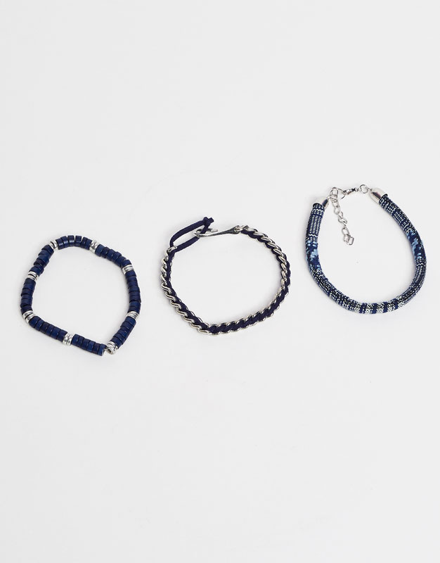 Metal and cord bracelets