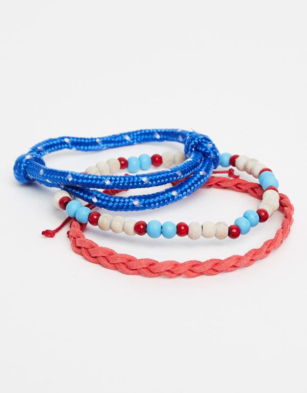 Pack of cord bracelets