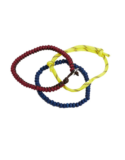 Pack of cord bracelets