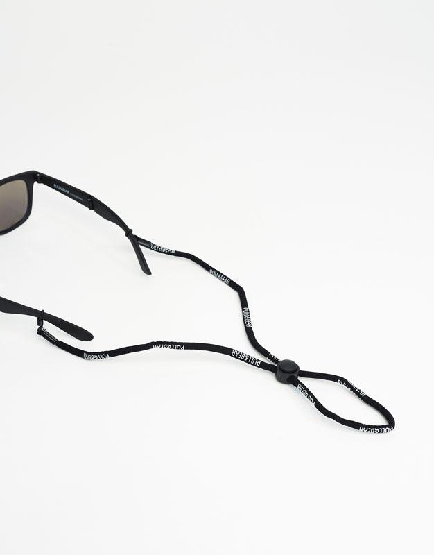 Cordon lunettes noir