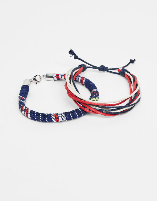 Pack of multicoloured bracelets