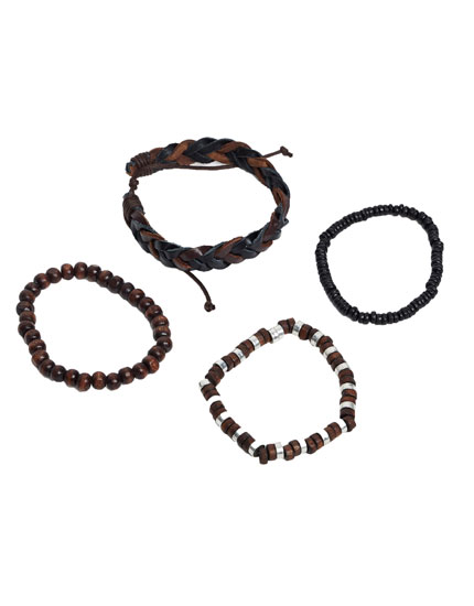 Pack of brown bracelets