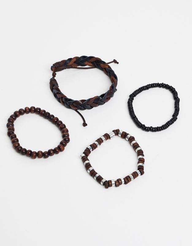 Pack of brown bracelets