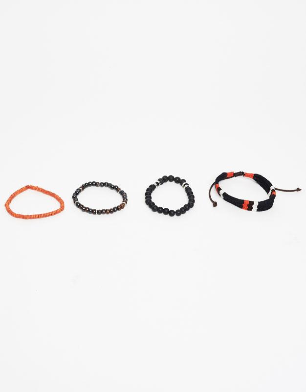 Beaded string bracelets