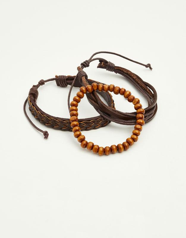 Bracelet cuir et perles