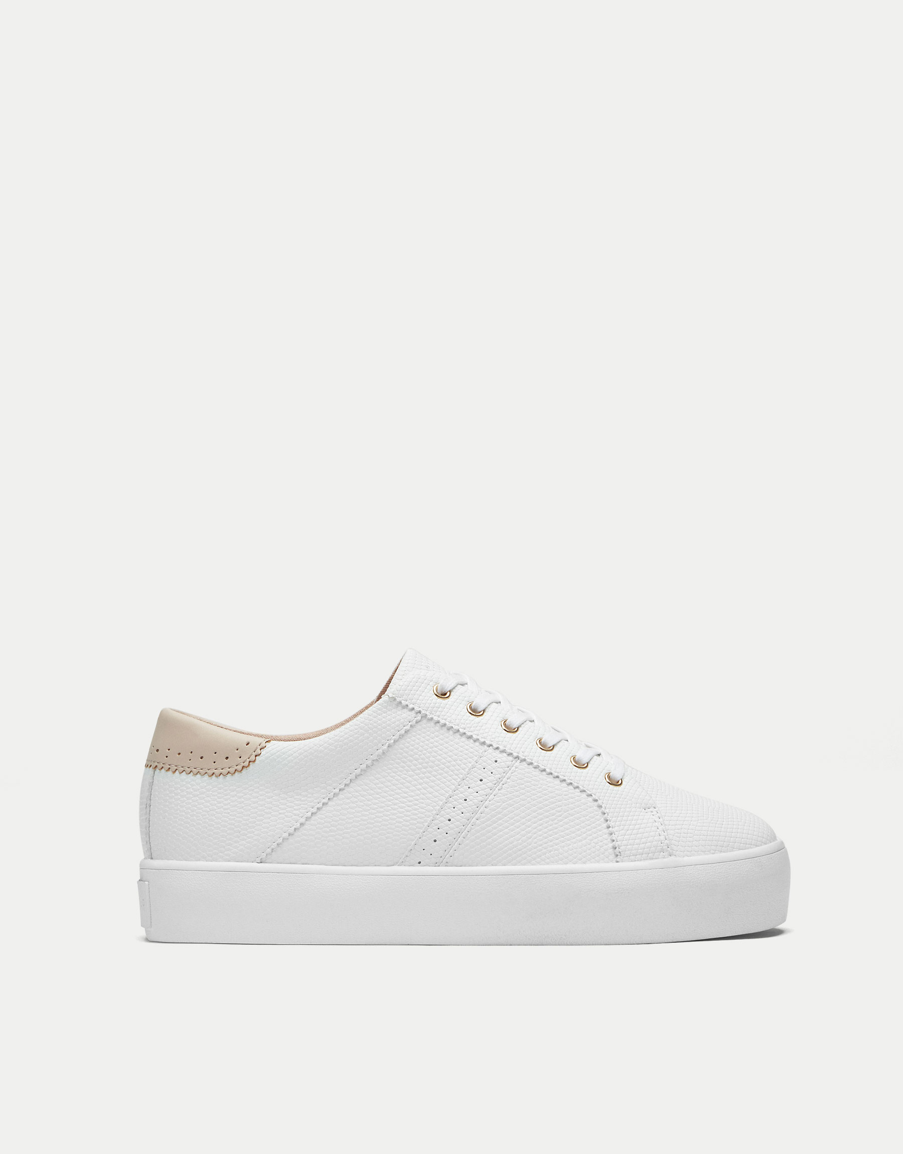 Embossed chunky sole plimsolls