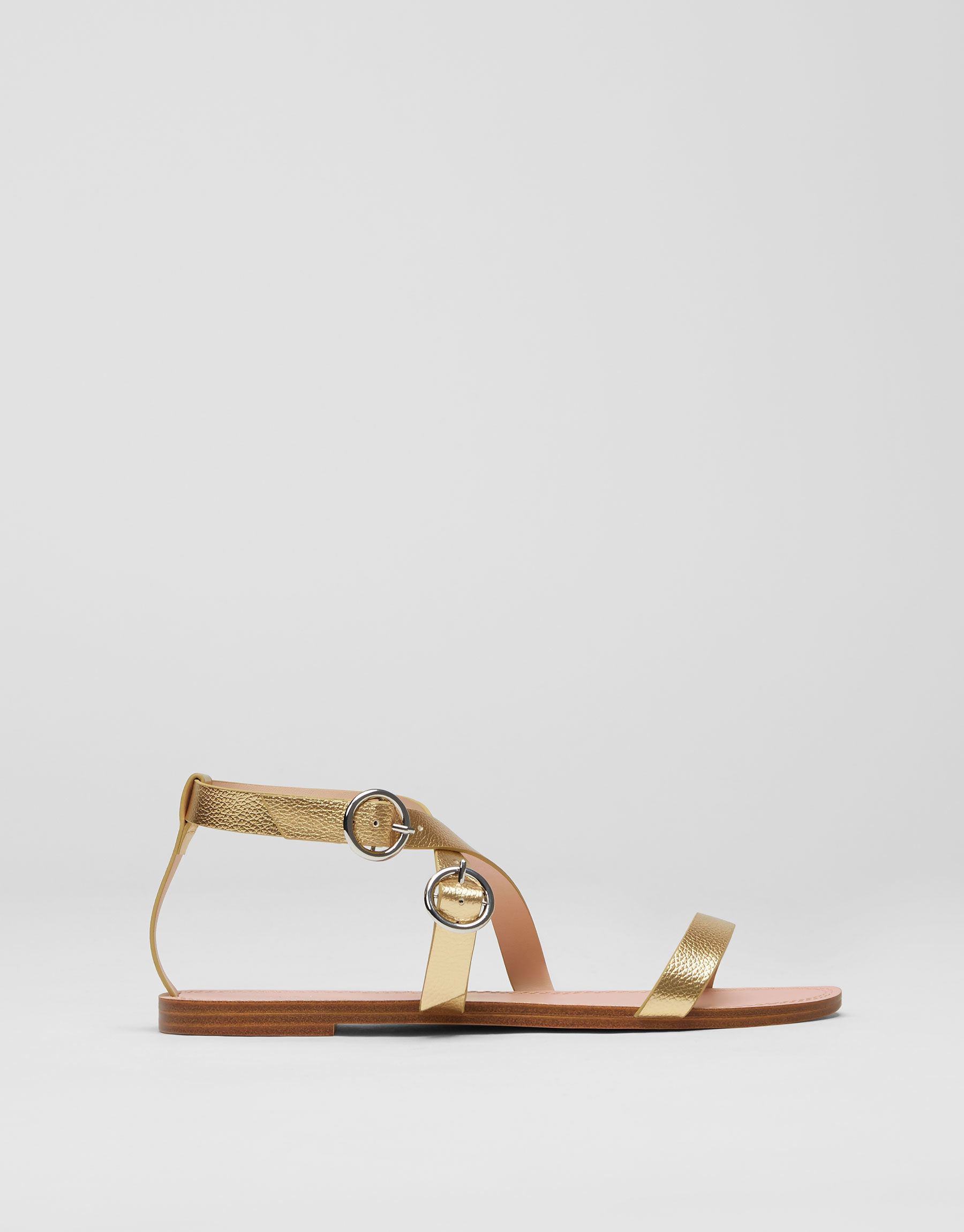 Sandalia básica hebillas dorada