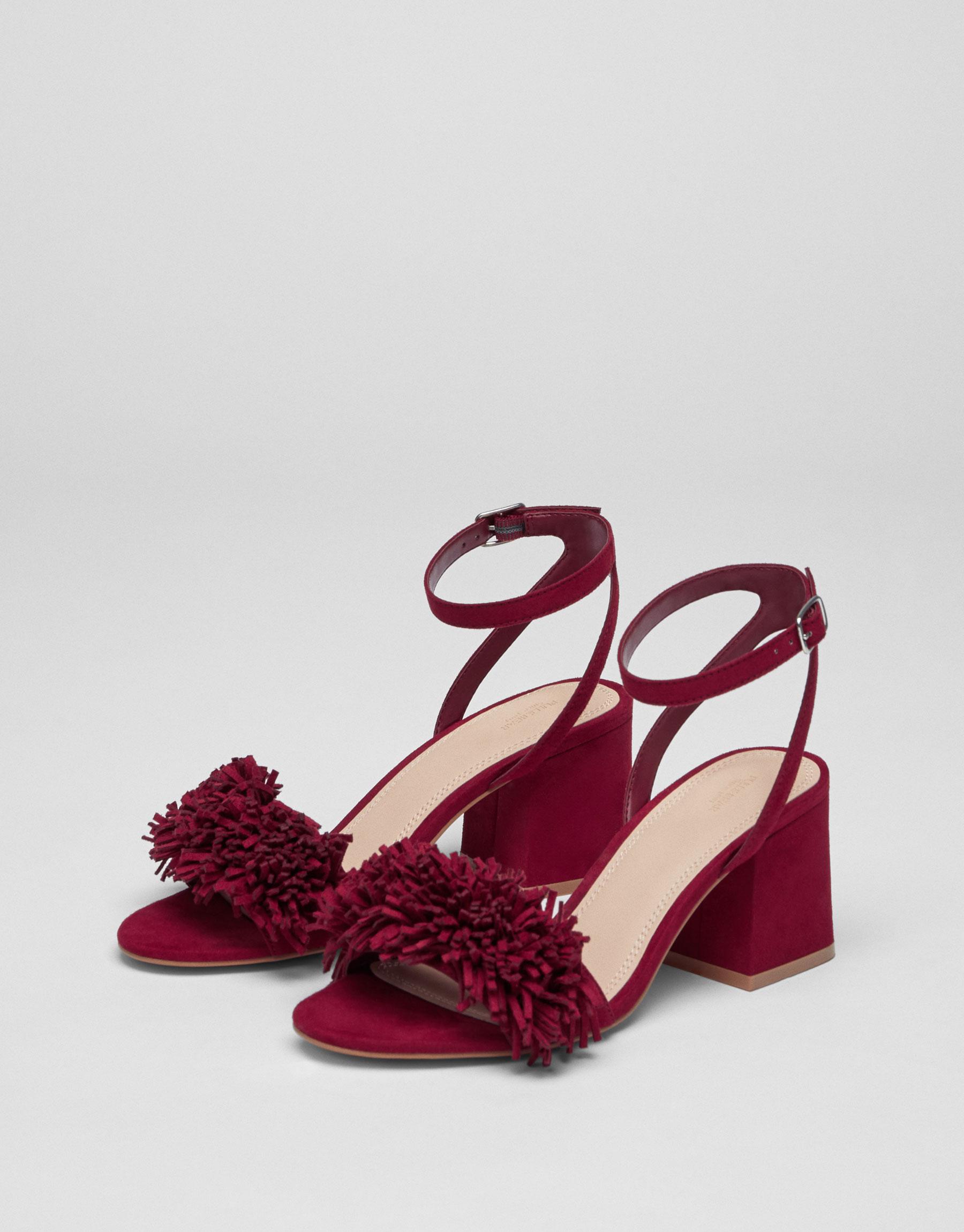 Sandale à talon fantaisie