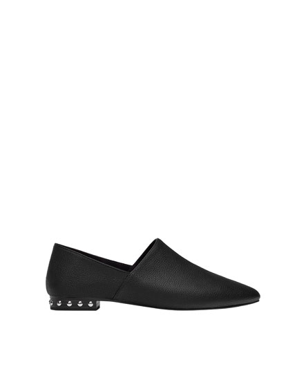 Babouches with studded heel detail