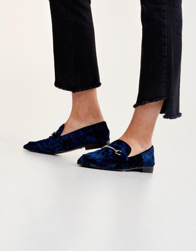 Velvet loafers
