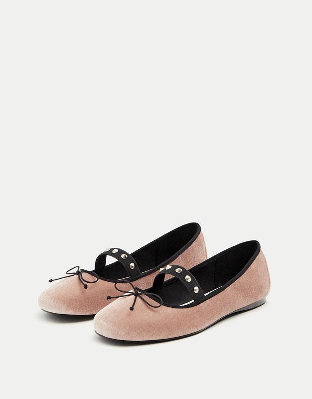 Velvet ballerinas