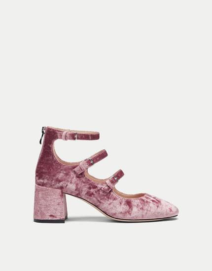 Zapato tacón velvet