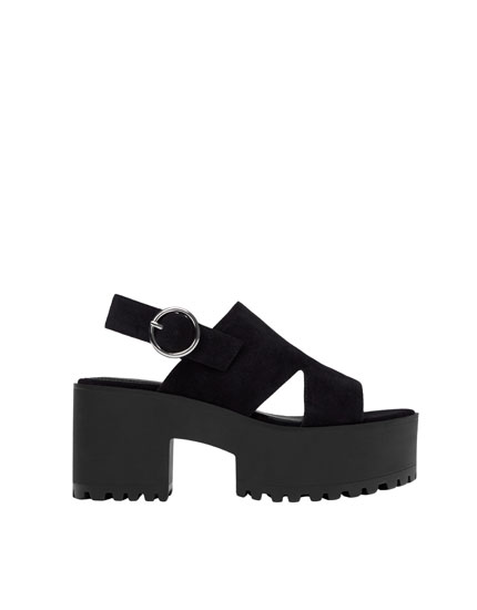 Chunky sole sandals with buckle