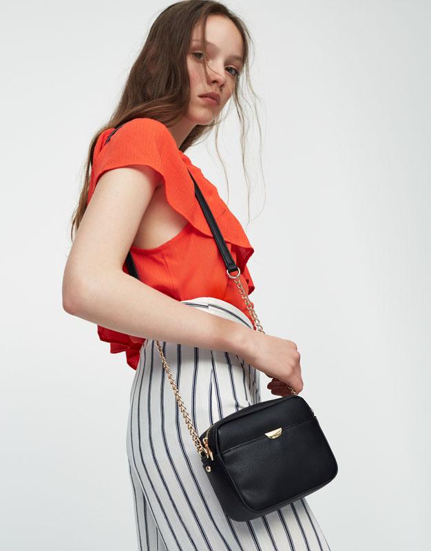 Crossbody bag with metallic detail