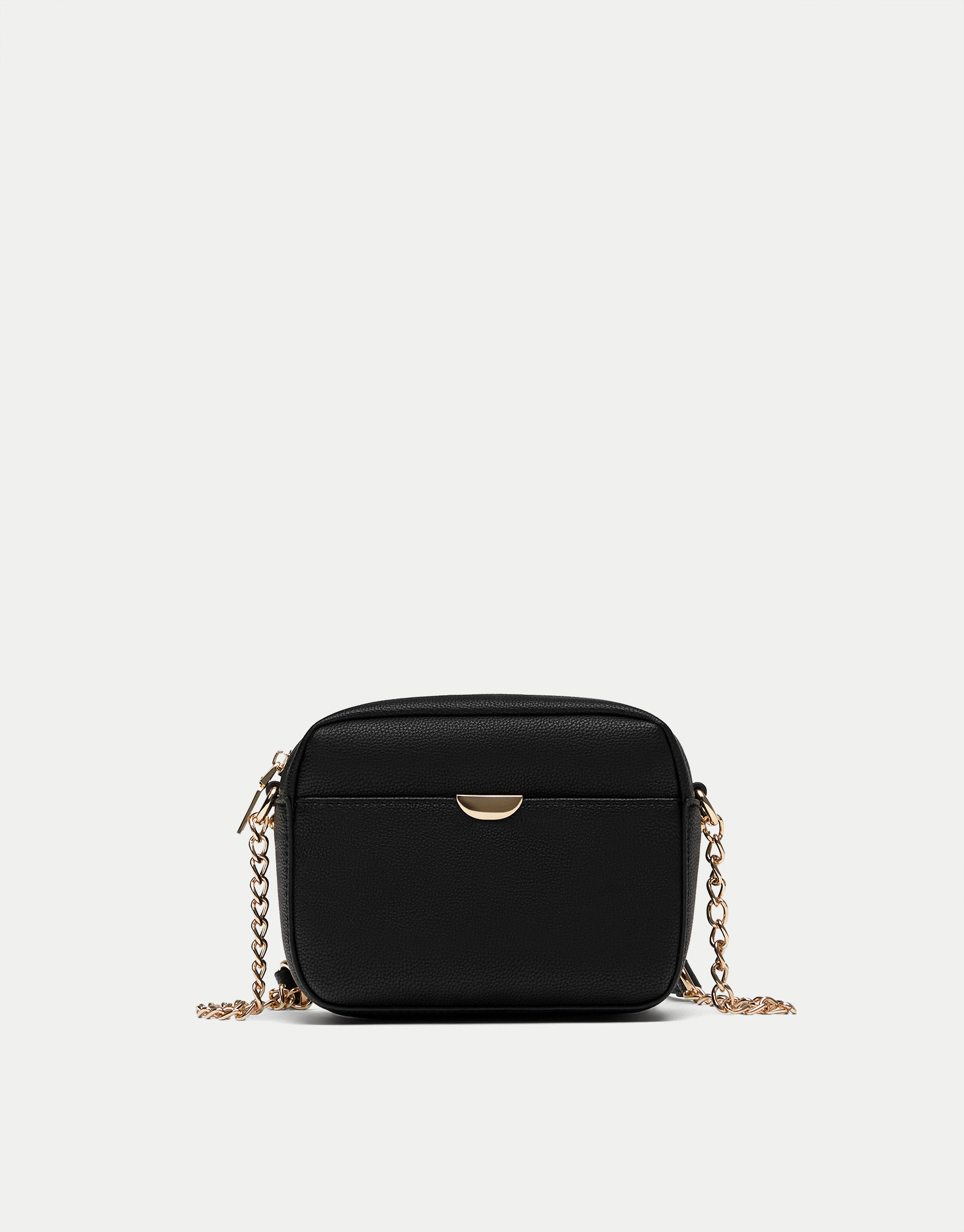 Crossbody bag with metallic detail
