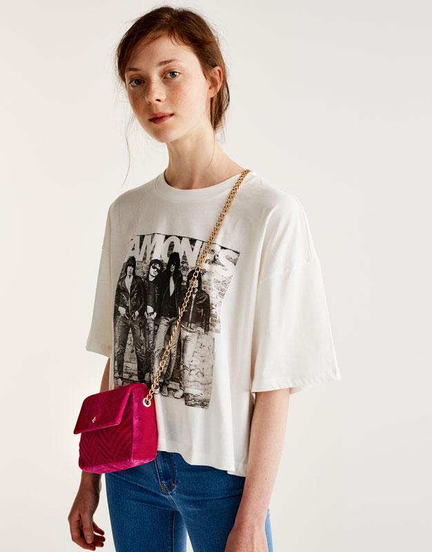 Pull&Bear - femme - vêtements - favoris des soldes - mini-sac à bandoulière matelassé - fuchsia - 16065214-I2017