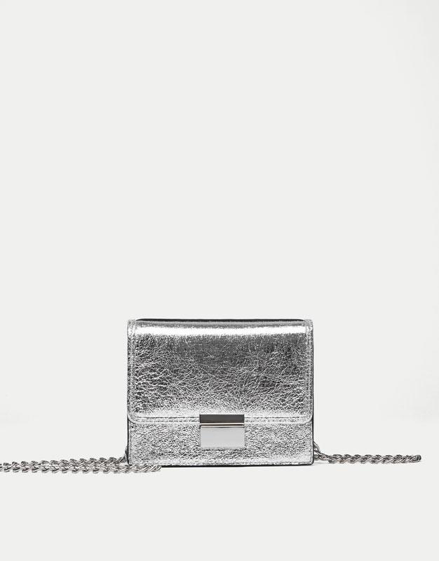 Mini crossbody bag with clasp