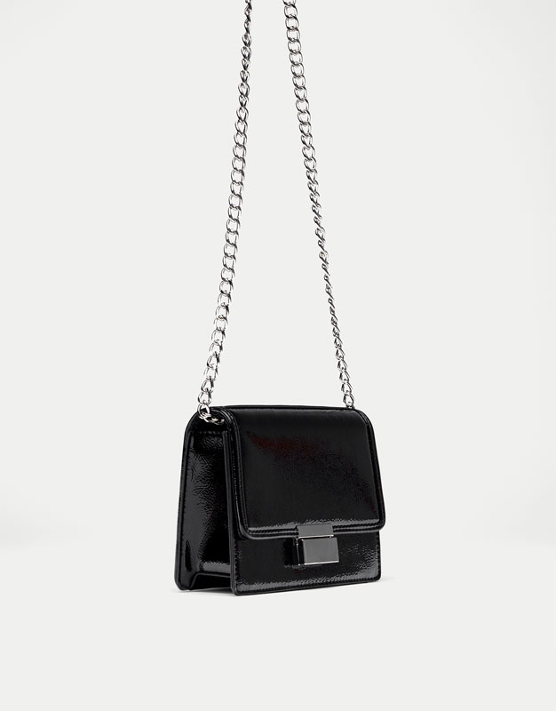 Mini crossbody bag with clasp