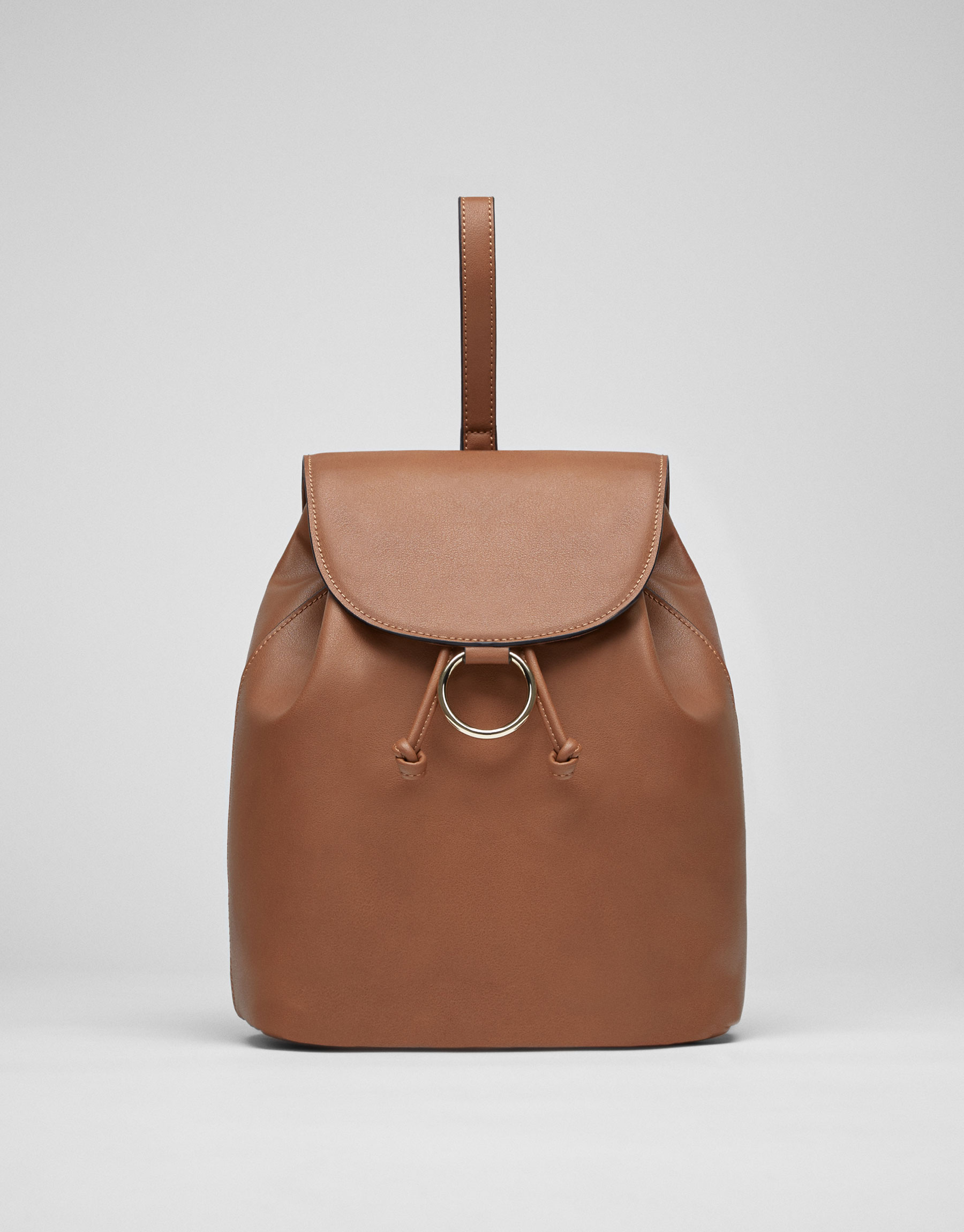 Basic backpack with ring detail