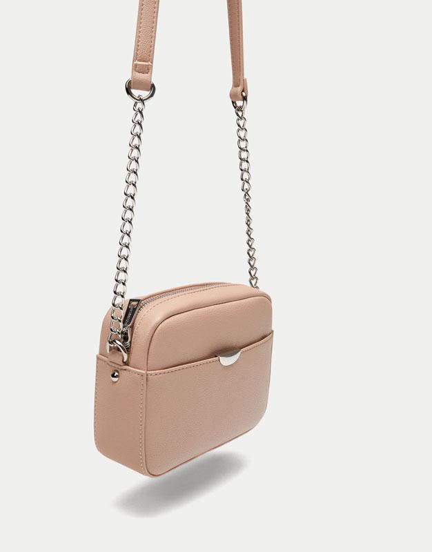 Mini-sac à bandoulière détail métallisé