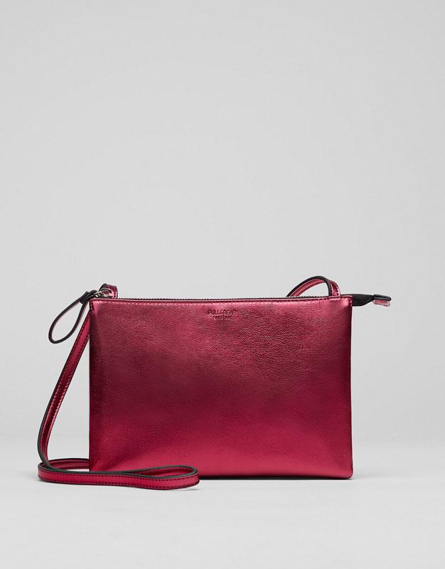Mini-sac à bandoulière métallisé