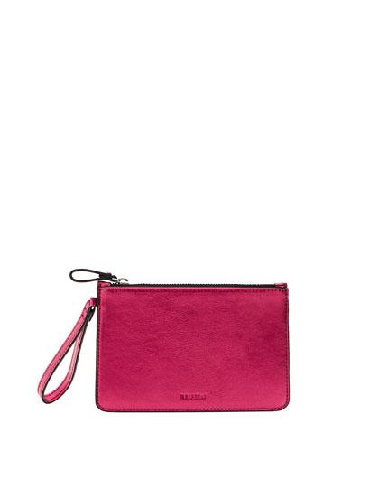 Metallic fuchsia purse