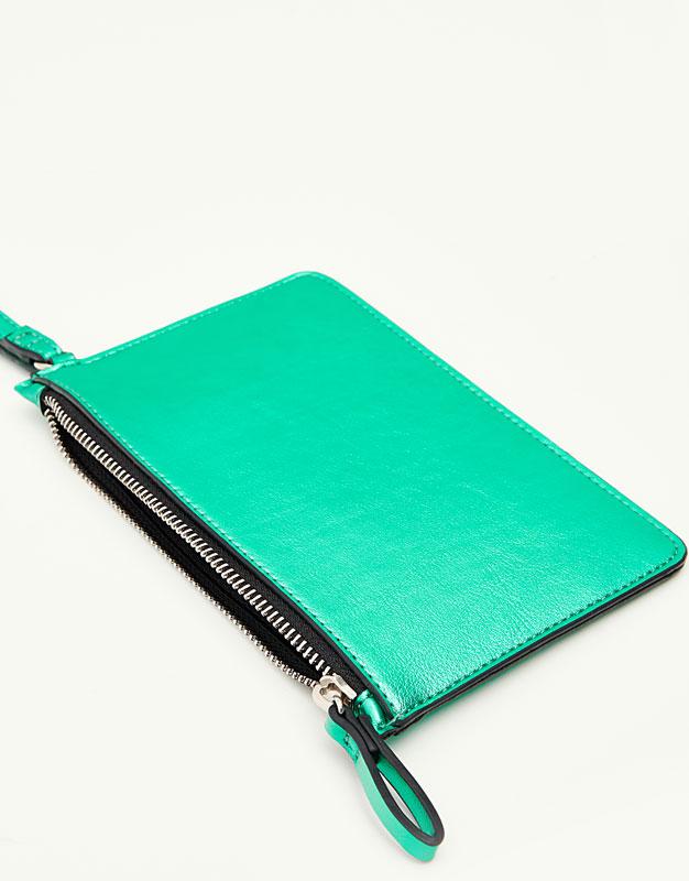 Metallic green purse