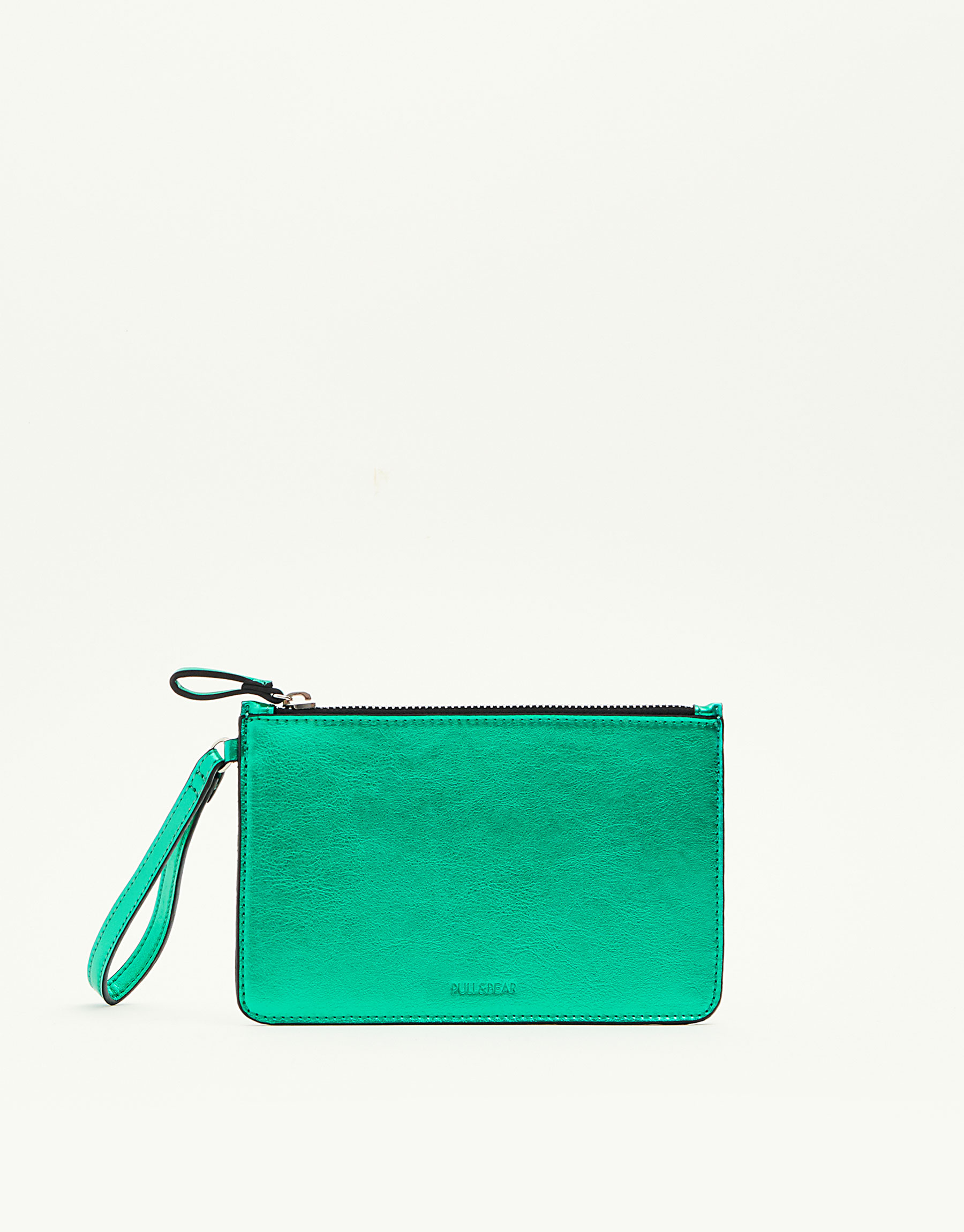 Metallic green purse