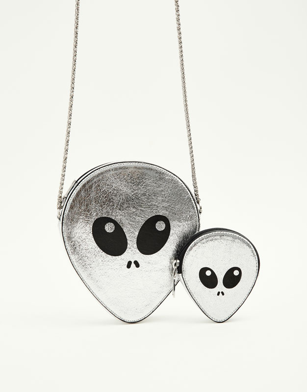 Alien-shaped purse