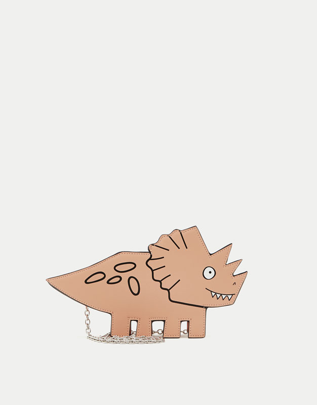Mini dinosaur-shaped crossbody bag