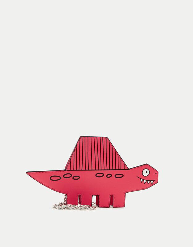 Mini-sac à bandoulière dinosaure