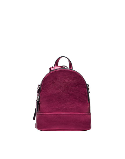 Mini backpack with zip