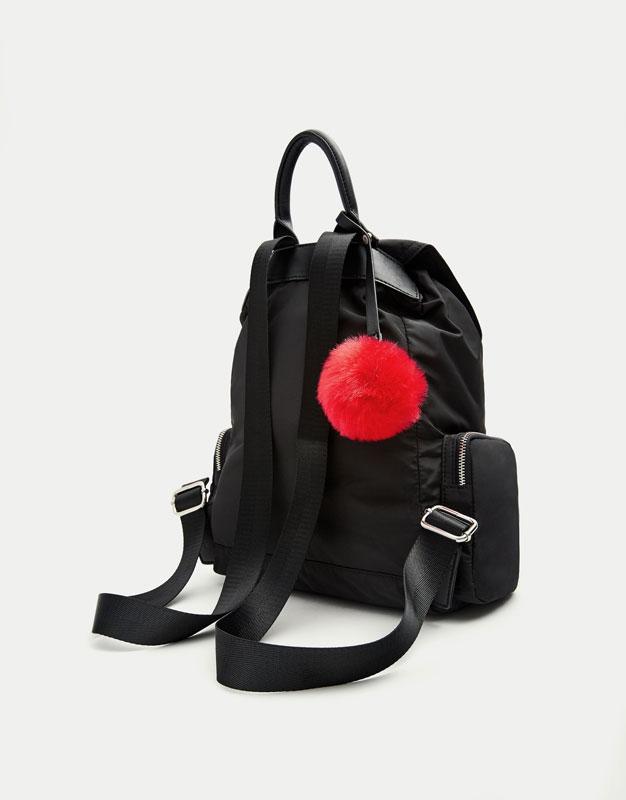Modischer Rucksack in Schwarz mit Details