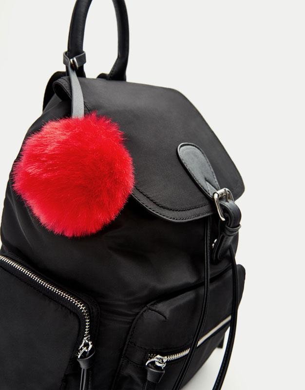 Black fashion backpack