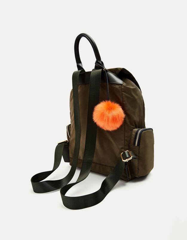 Khaki fashion backpack
