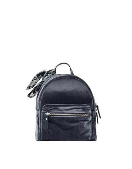 Rucksack aus Samt