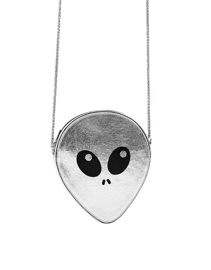 Mini alien-shaped crossbody bag