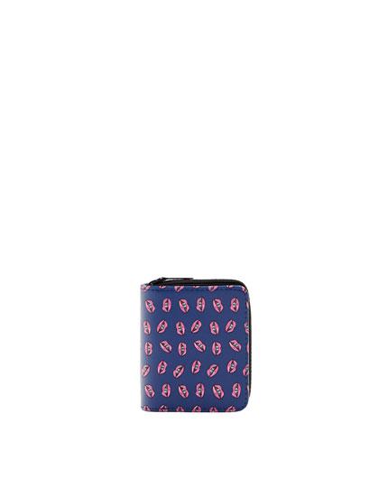 Embellished square cut wallet