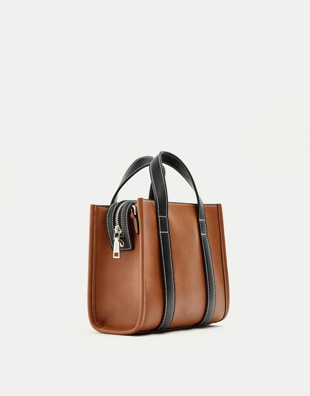 Bossa mini shopper/bandolera. Color marró.