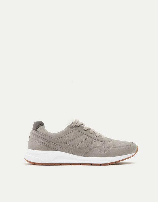 Grey retro sneakers