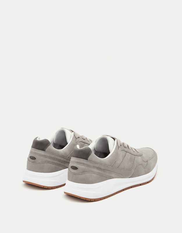 Grey retro sneakers