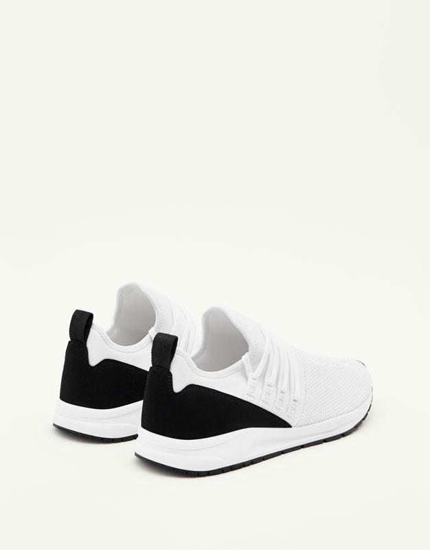 Soft sneakers with slogan