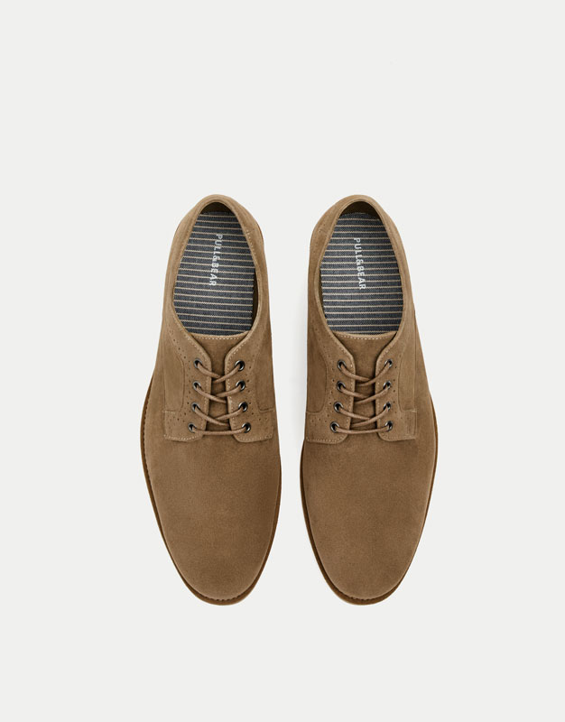 Smart leather brogues