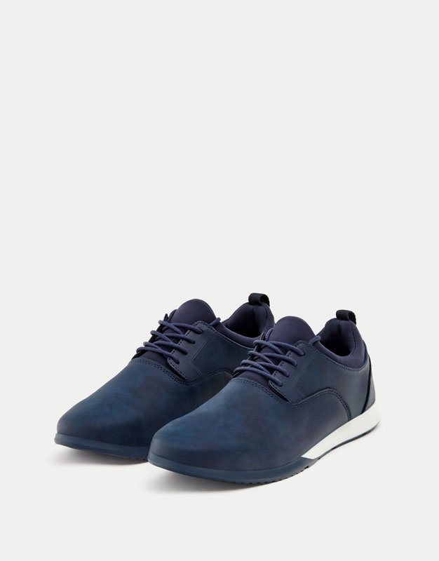 Soft blue sneakers