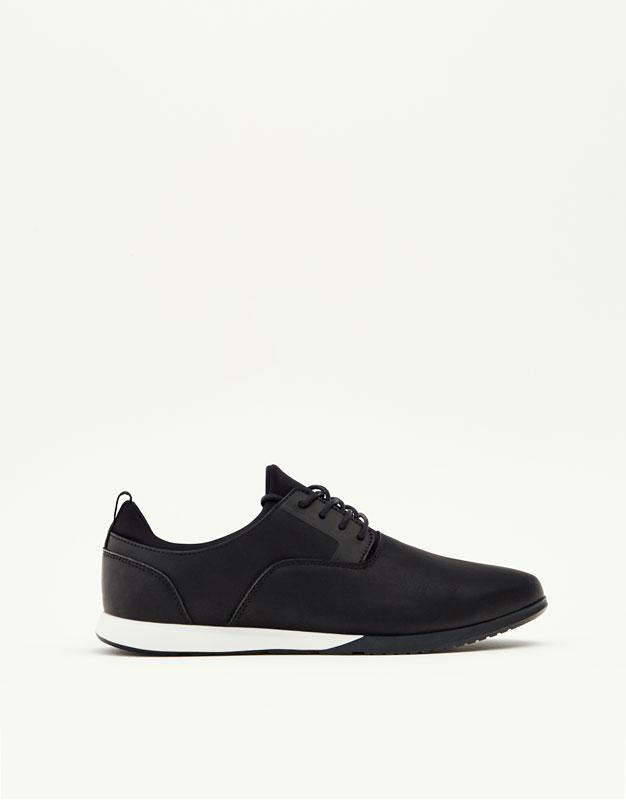 Soft black sneakers