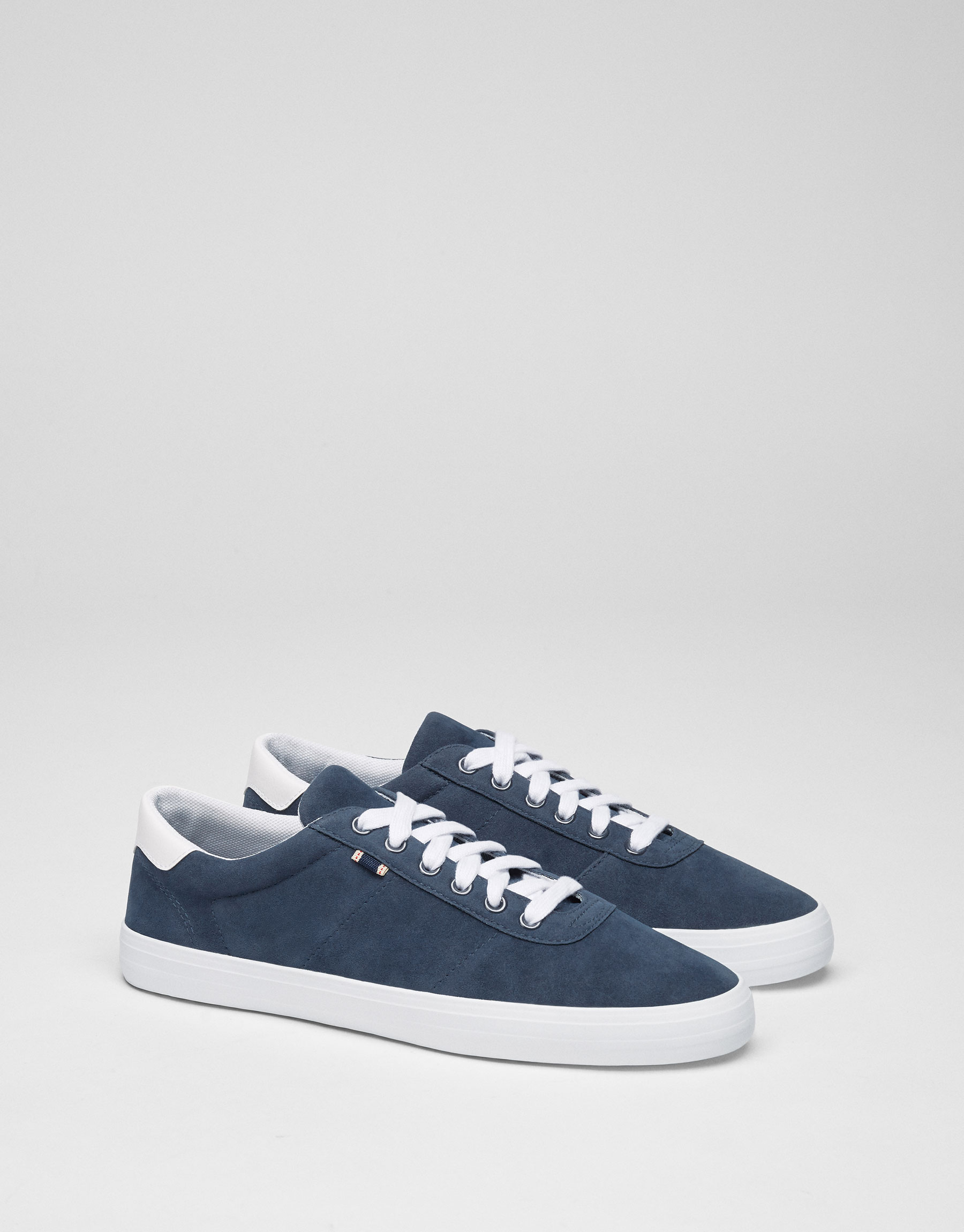 Basic blue sneakers with label