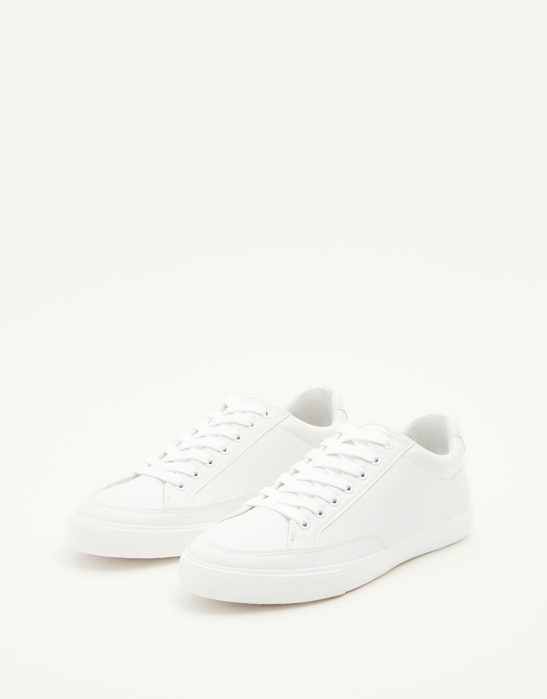 White monochrome sneakers
