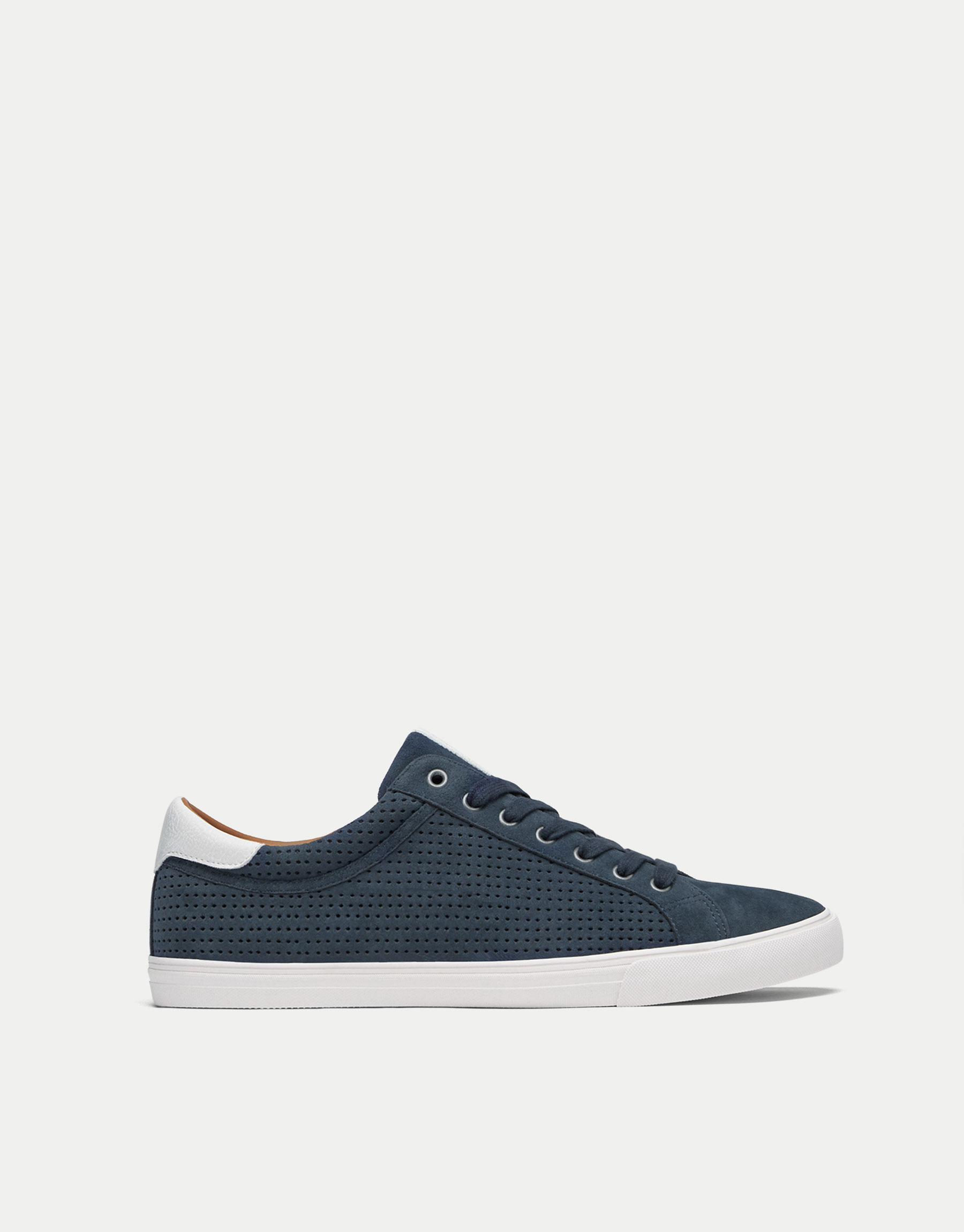 Blue die-cut sneakers